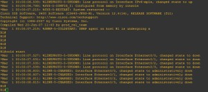GNS3 router command line interface