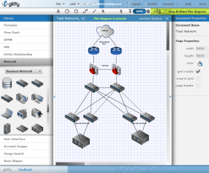 Use gliffy to create free visio network diagrams ccuart Choice Image