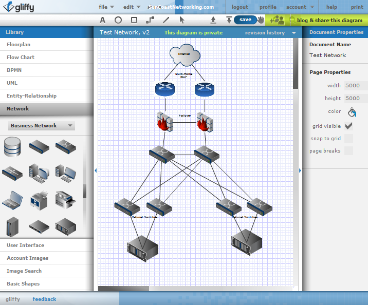 How To Draw Network Diagram Online Free