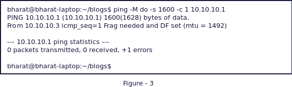 Using ping to test fragmentation