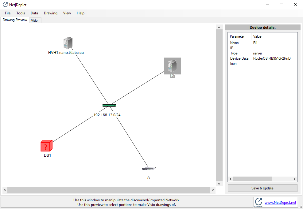 NetDepict – Network Drawing
