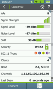 Aircheck G2 network details