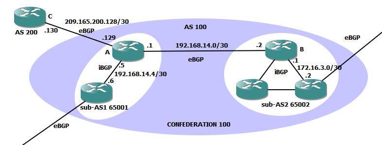 bgp confederation 100