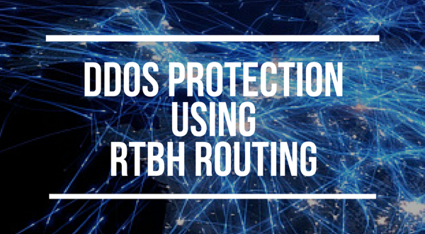 How to configure Remotely Triggered Black Hole routing to protect from DDOS attacks