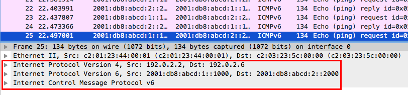 IPv6 tunnel packet capture