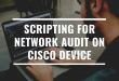 Scripting for Network Audit on a Cisco Device (with bonus)