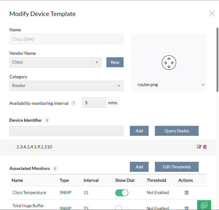 opmanager device template