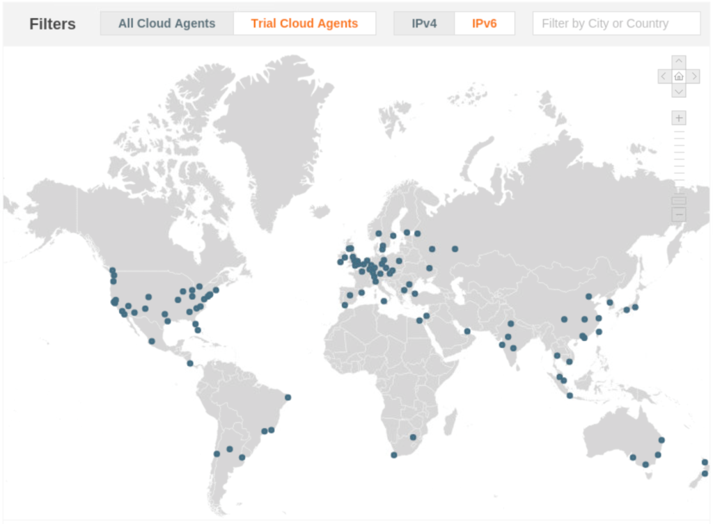 thousandeyes cloud agent map